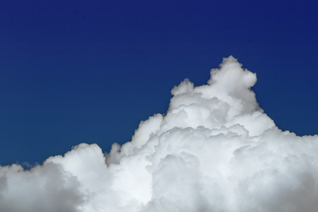 Cloudscape. The vast blue sky and white cloud.Cumulus cloud. picture background website or art work design. freedom with sky.