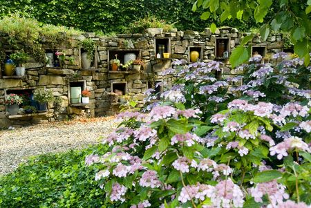 Cremation and burial garden Stock Photo