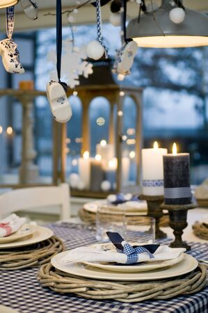 Interior of a holiday dinnerroom Stock Photo