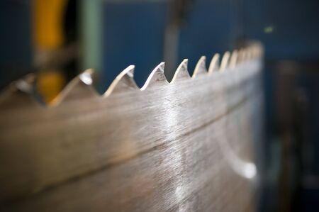 sawmill: Repairing  the sawblades at a sawmill Stock Photo
