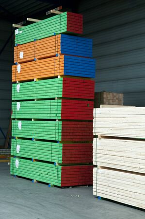 color coded lumber for profiles in the construction industry
