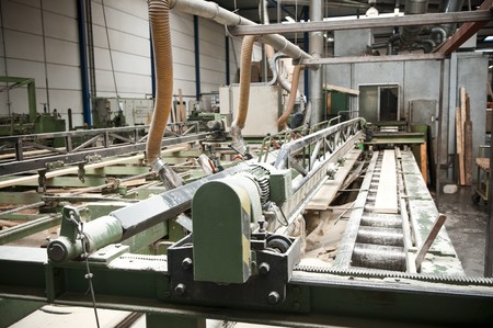 Production line in a sawmill