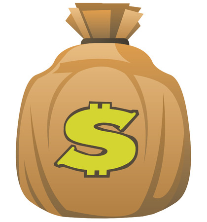 Bag of money. Vector illustration Stock Vector - 4087413