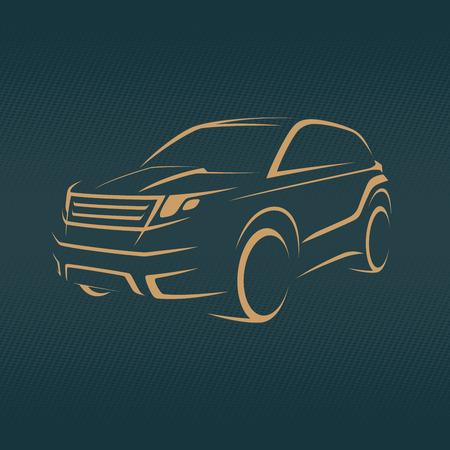 Diseño del icono del coche de SUV