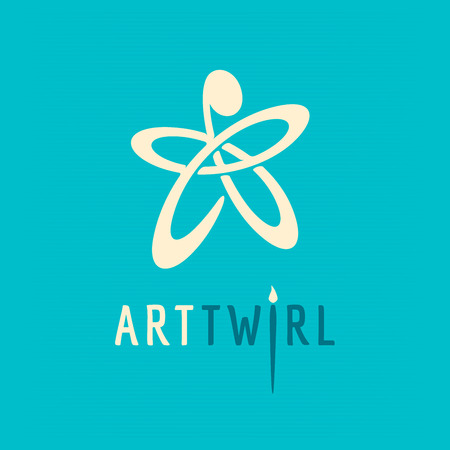 logo abstract people Иллюстрация
