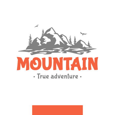 Mountain nanure expanse logo Иллюстрация