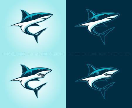 sharks illustration emblem
