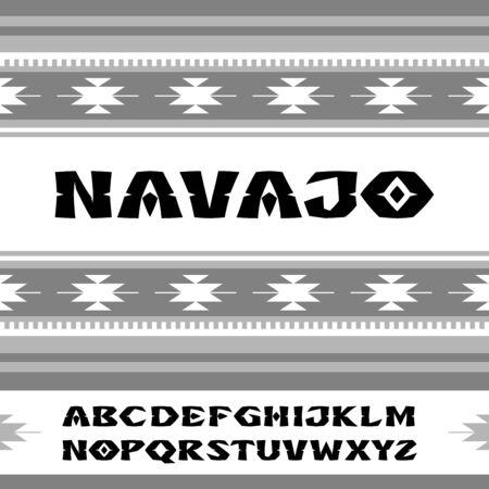 Navajo. Fonte no estilo de ornamentos de tribos indianas