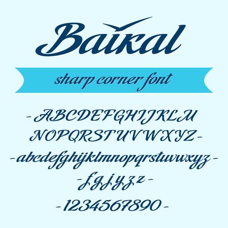 Baikal alphabet lettering. Vector font Иллюстрация