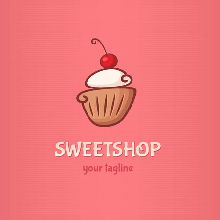 cake icon sweetshop with cupcake