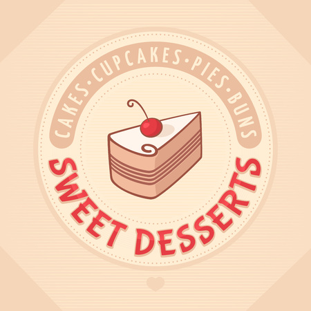 cake Logo sweet dessert Иллюстрация