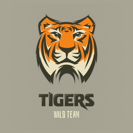 Tiger illustration, suitable as logo for a sports team or use as an icon.