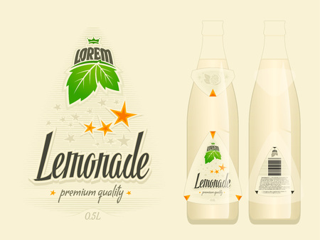 Lemonade label vector illustration