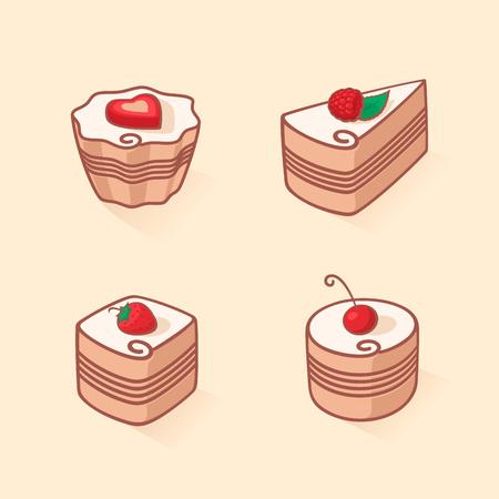 Set of cake icon