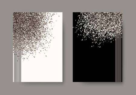 dust cloud: Abstract background with cloud of dust, glitter, sand. Set of artistic creative universal cards. Elegant cover, flyer, poster, invitation, placard, brochure, banner. A4 size. Vector illustration eps10