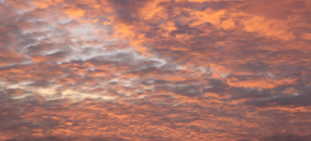 photorealism: The sky over the sea at dawn or dusk. Abstract background. Photorealism. Can be used as a basis for design with the motives of nature. Vector illustration of Eps10.