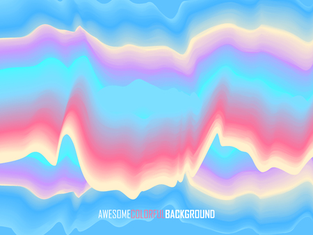 Abstract wavy colorful background. Random bent strips. Vector illustration of EPS10