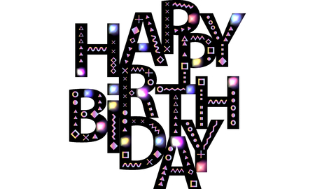 Happy birthday message greetings wishes text composition black happy birthday message greetings wishes text composition black font is decorated with bright m4hsunfo