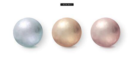 aluminium texture: Set of 3d realistic metal balls. Gold, brass, aluminum. Elements for design. Vector illustration of EPS10
