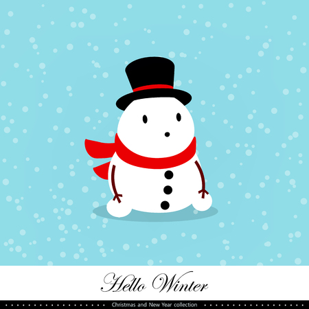 Playful snowman illustration.