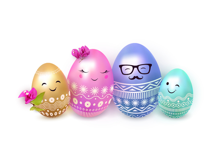 Easter eggs design illustration. 向量圖像