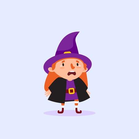 Halloween Witch cries