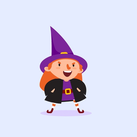 Halloween Witch gets angry and says with his hands in the pockets