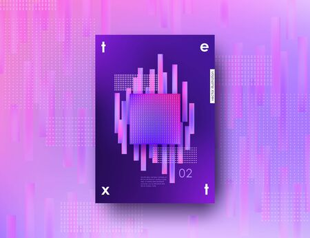 Abstract ultraviolet background A4 with geometric blurred design elements Corporate template for banner poster cover flyer Vector illustration Illustration