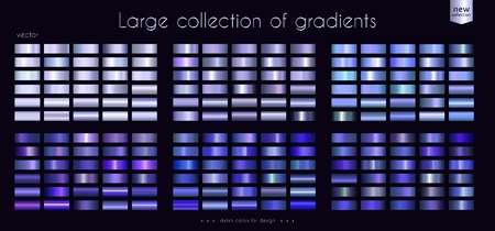 Ultraviolet blue ultramarine collection of gradients