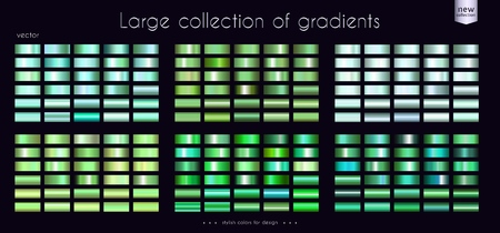 Green Emerald Turquoise collection of gradients 矢量图像