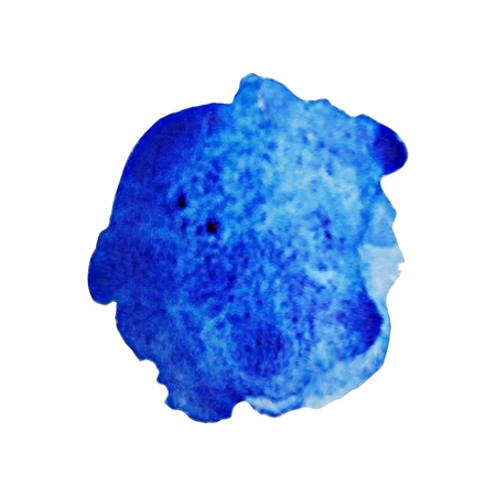 Watercolor stain Blue blurred blot icon