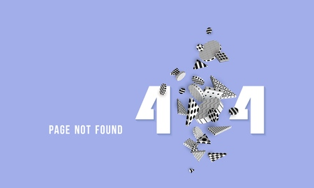 404 page not found Concept of computer error Template web pages Error retrieving the website 3D rendering Vector illustration