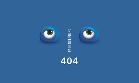 404 page not found Humorous concept of computer error with funny 3d eyes Template web pages Error retrieving the website Vector illustrations Ilustração