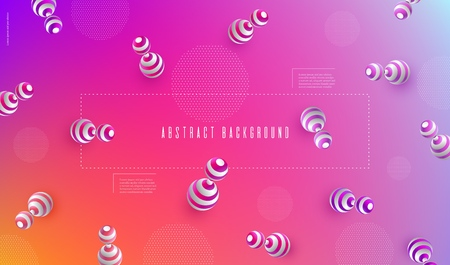 Abstract blurred background 3d dynamic shapes Rose pattern for creative design Minimal geometric background for posters banners flyers presentation covers etc Vector EPS10