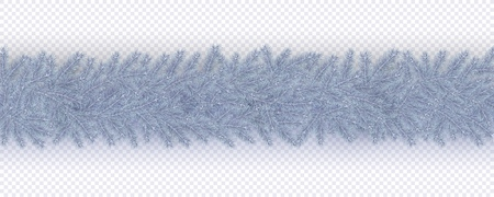 Christmas and New Year border of branches Christmas tree Scandinavian style
