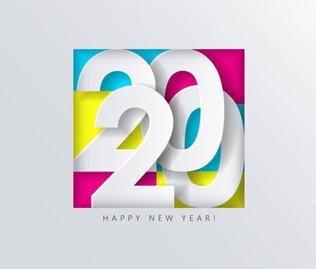 2020 Happy New Year, creative date design