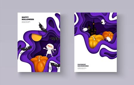 Happy Halloween 3d design Stock Illustratie