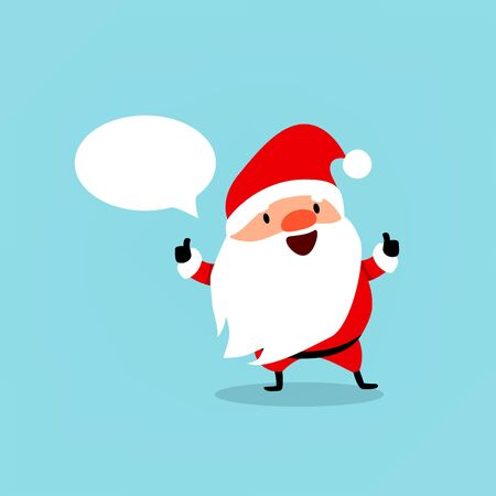 Santa Claus with bubble for text. 矢量图像