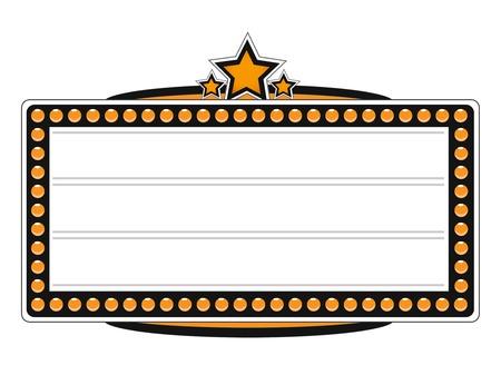 Blank Cinéma Billboard Vector Design Vecteurs