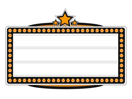 theater marquee: Blank Cinema Billboard Vector Design