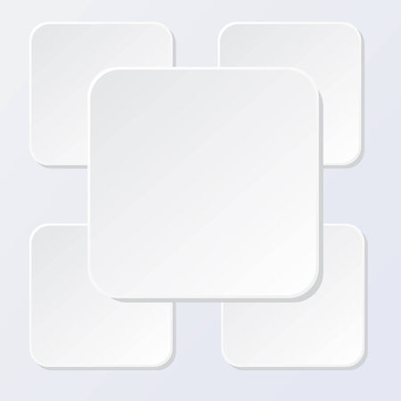 White squares abstract background vector illustration