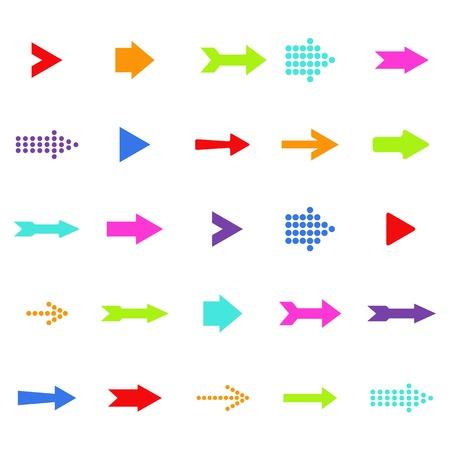 다채로운 벡터 화살표