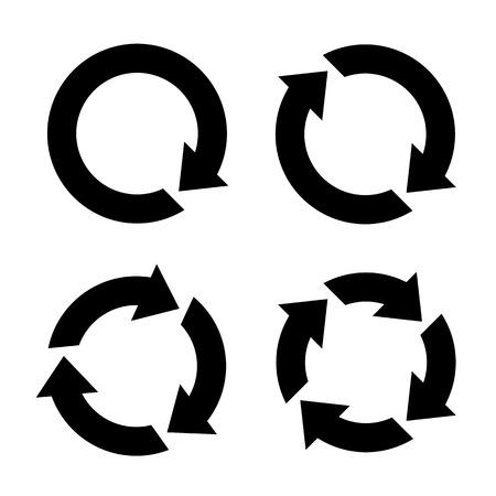 icono flecha: Cuatro flechas conjunto de iconos de vectores Vectores