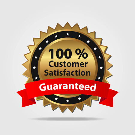 Red and Gold Customer Satisfaction Badge