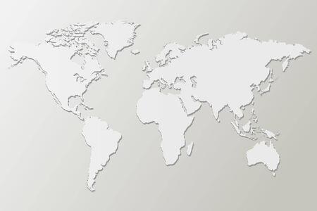 weltweit: Wei� Karte Vektor-Illustration