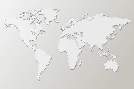 smooth shadow: White map vector illustration