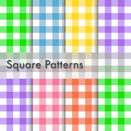 스퀘어 패턴의 그림 일러스트