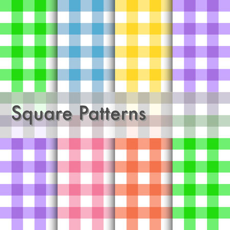 checked: Square patterns illustration