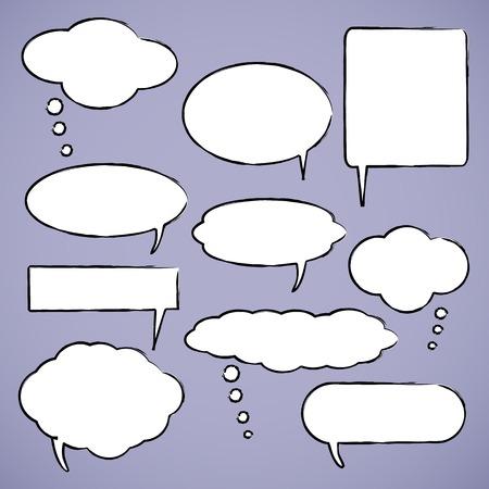 chat bubbles: Chat bubbles vector illustration