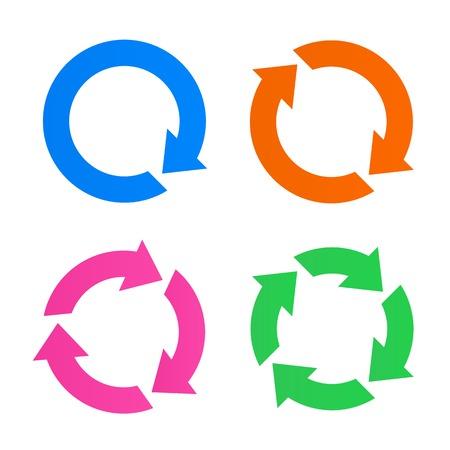 다채로운 화살표 다시로드 아이콘